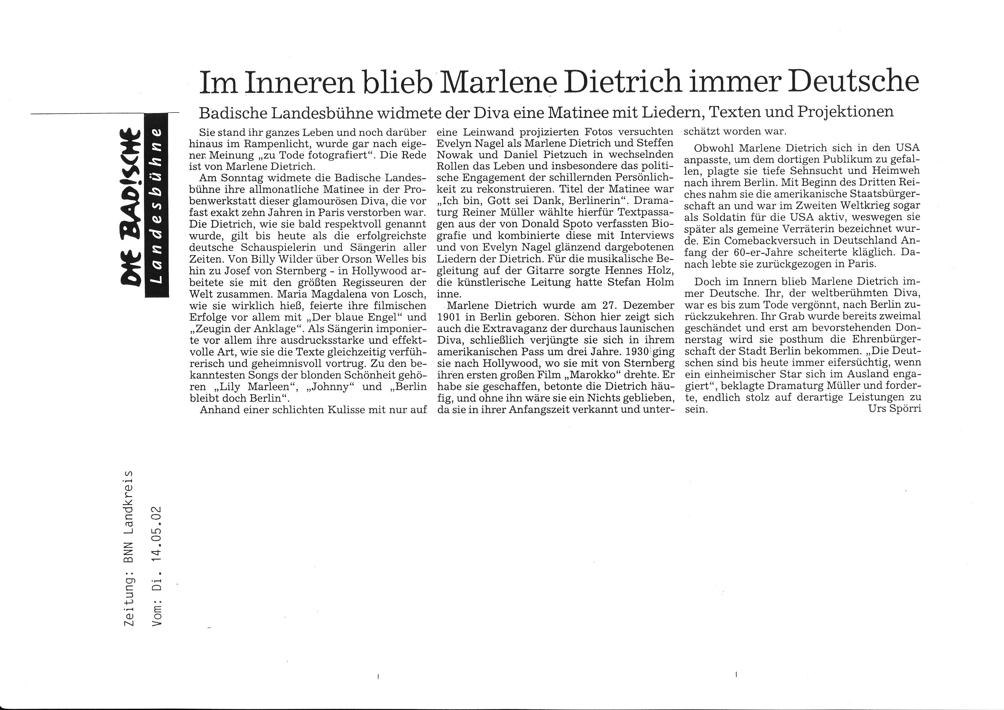 2002_05_14 Matinee Marlene