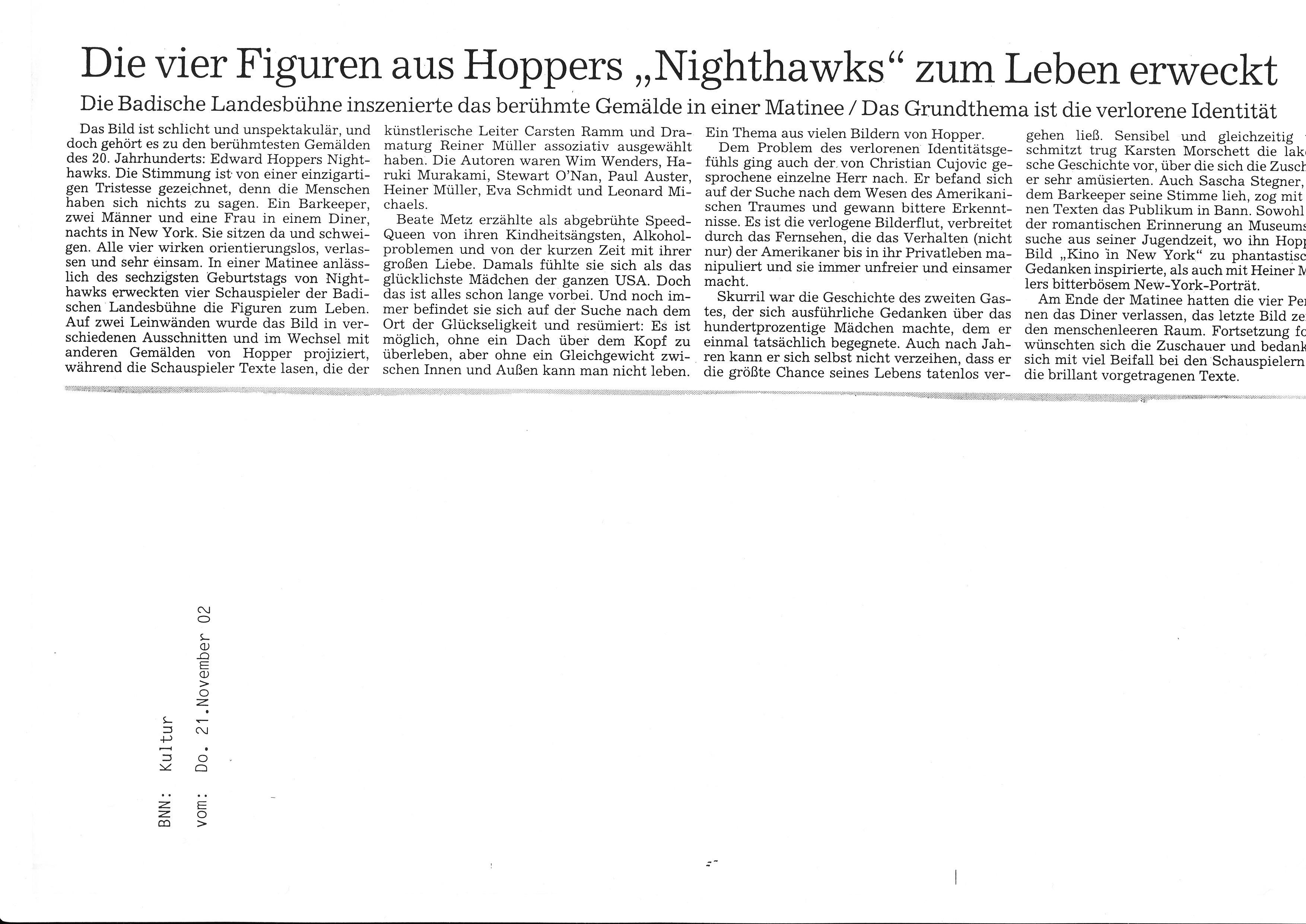 2002_11_21 Matinee Nighthawks