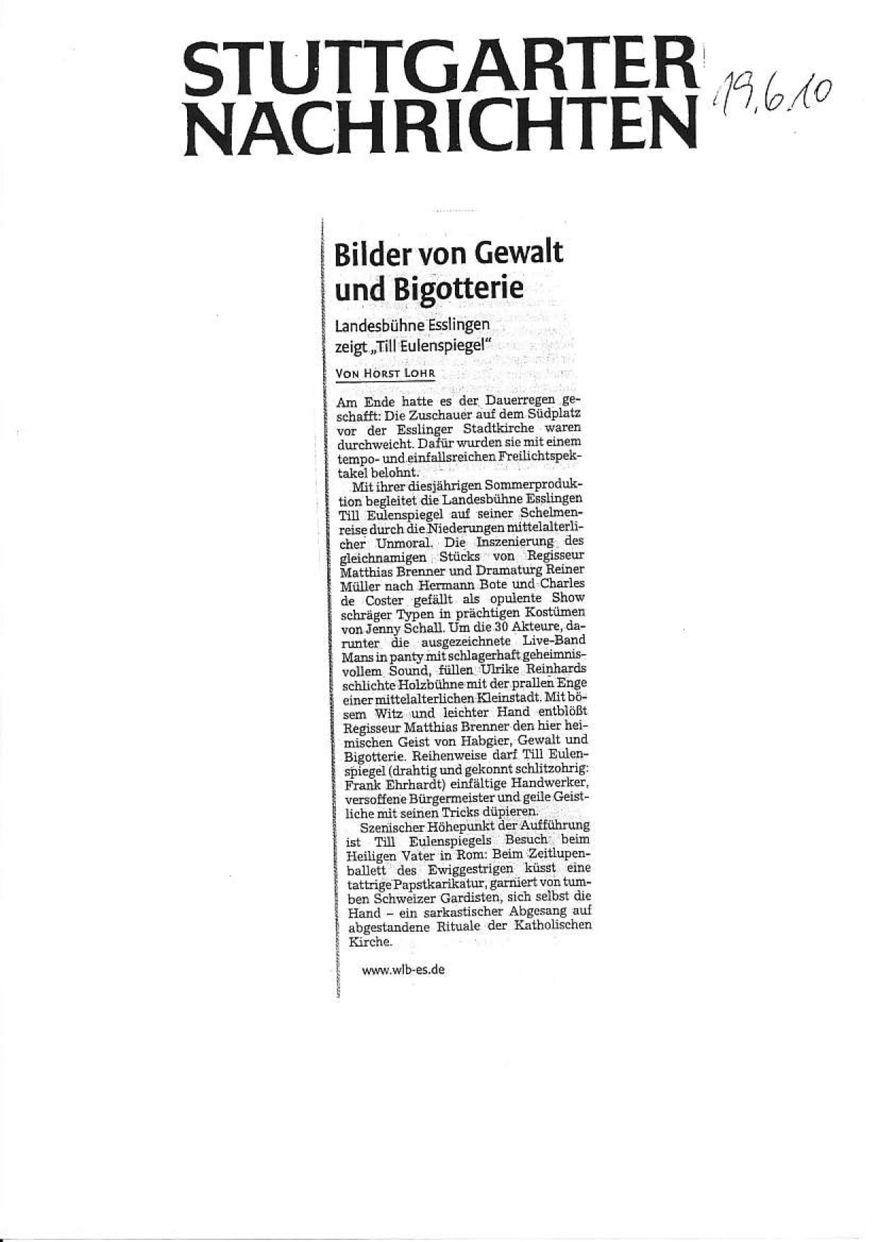 Kritik Stuttgarter Nachrichten Till