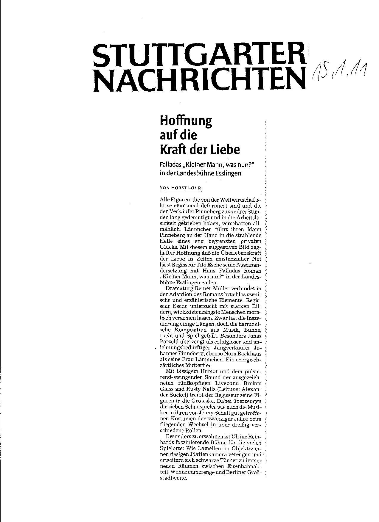 Kritik Stuttgarter Nachrichten
